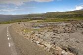 Empty asphalt route - Iceland westfjords — Stock Photo