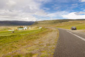 Asphalt route - Iceland — Stock Photo