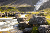 Dynjandi waterfall - Iceland, Westfjords. — Stock Photo