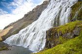 Big and beauty Dynjandi waterfall - Westfjords, Iceland — Stock Photo