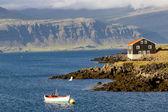 Djupivogur - Icelandic fishing town. — Stock Photo