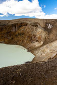 Vitio geothermal lake in Interior of Iceland. — Stock Photo