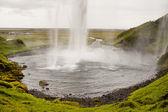 Seljalandsfoss waterfall - Iceland — Stock Photo