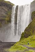 Big beauty waterfall - Skogafoss - Iceland — Stock Photo