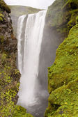 View on Skogafoss waterfall - Iceland — Stock Photo