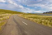 Route in Bjarkalundur village - Iceland — Stock Photo