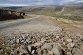 Empty mountain route - vestfjord Iceland — Stock Photo