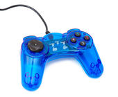 The blue glass game controler — Stock Photo