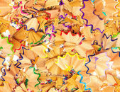 Seamless texture colorful pencil shavings — Stock Photo