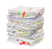 Pile of official papers — Stock Photo