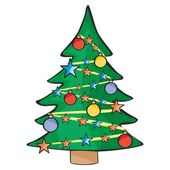 Иллюстрация изолированных Рождественская елка — Cтоковый вектор