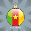 Cameroon flag in christmas bulb shape — Stock Vector
