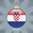 Royalty-Free Stock Vector Image: Croatia flag in christmas bulb shape