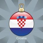 Croatia flag in christmas bulb shape — Stock Vector
