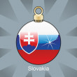 Slovakia flag in christmas bulb shape — Stock Vector