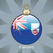 Falkland-flag in zwiebelform weihnachten — Stockvektor
