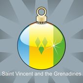 St vincent and the grenadines flag in christmas bulb shape — Stock Vector
