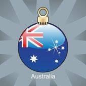Australia flag in christmas bulb shape — Stock Vector