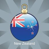 New Zealand flag in christmas bulb shape — Stock Vector