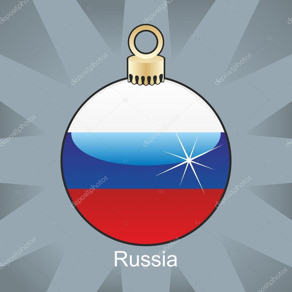 russland flagge in zwiebelform weihnachten stockvektor. Black Bedroom Furniture Sets. Home Design Ideas