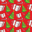 Seamless pattern with christmas items — 图库矢量图片