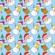 Seamless pattern with christmas items — Vector de stock