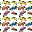 Seamless pattern vintage cars - Vettoriali Stock