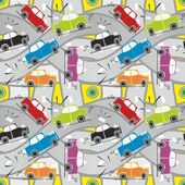Seamless pattern car crash — Stock Vector