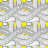 无缝模式道路 — 图库矢量图片