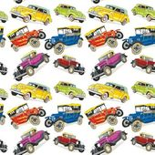 Seamless pattern vintage cars — Cтоковый вектор