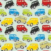 Seamless pattern vintage cars — Stock Vector
