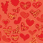 Seamless pattern isolated hearts — Stock Vector