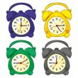 Illustration of isolated clocks — Stock Vector