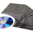 Beautiful stack of disk cases and disk — Stock Photo #4285168