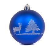 蓝色圣诞球 — 图库照片