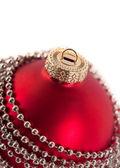 Closeup of Christmas ball with beads — Stock Photo