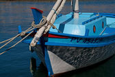 Close up of a colorful fishing boat — Photo