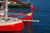 Colorful fishing boats — Stock Photo