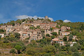 Typical little village in the languedoc — Stock Photo