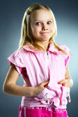 The portrait of a little girl. — Stock Photo