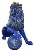 Blue lion statue — Stock Photo