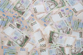 Heap of ukrainian money. 500 uah front and back. — Stock Photo