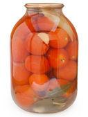 Tomate vermelho em conserva. — Fotografia Stock