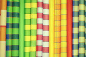 Vivid fabric samples — Stock Photo