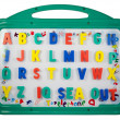 Magnetic letters on a whiteboard — Stock Photo