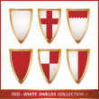 Collection of shields — Stock Vector
