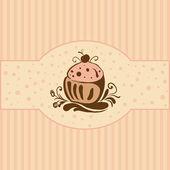 Cupcake — Vecteur