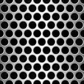 Aluminium seamless pattern wit round holes — Stock Vector