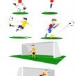 Football Players Vector — Stock Vector