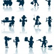 Royalty-Free Stock Vektorfiler: Professions vector silhouette